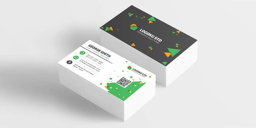 Free Brick Business Card Template PSD