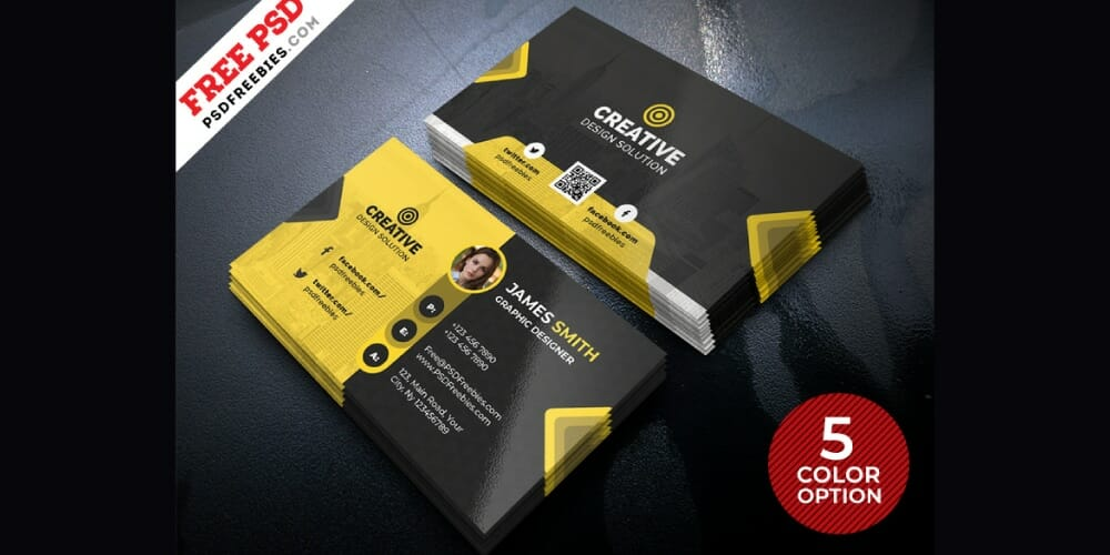 Free Business Card Design Templates PSD