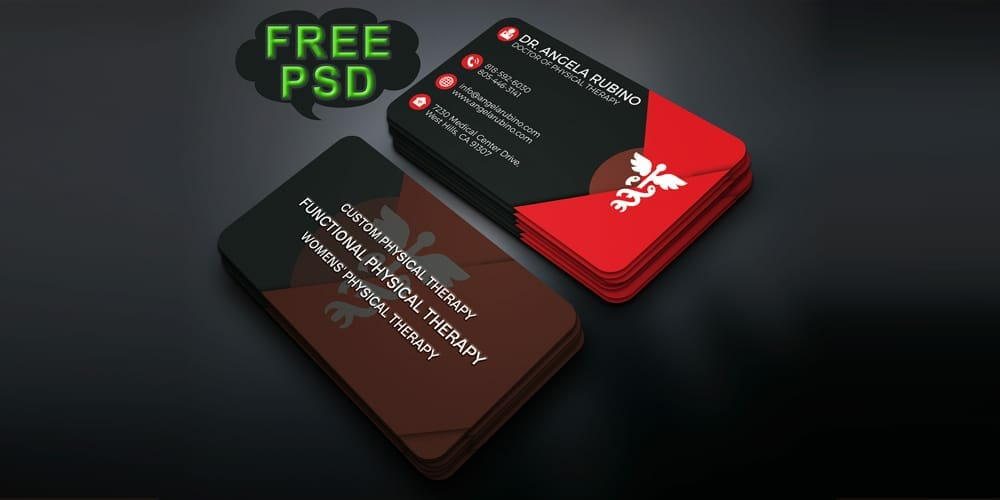 Free Business Card PSD for Doctor