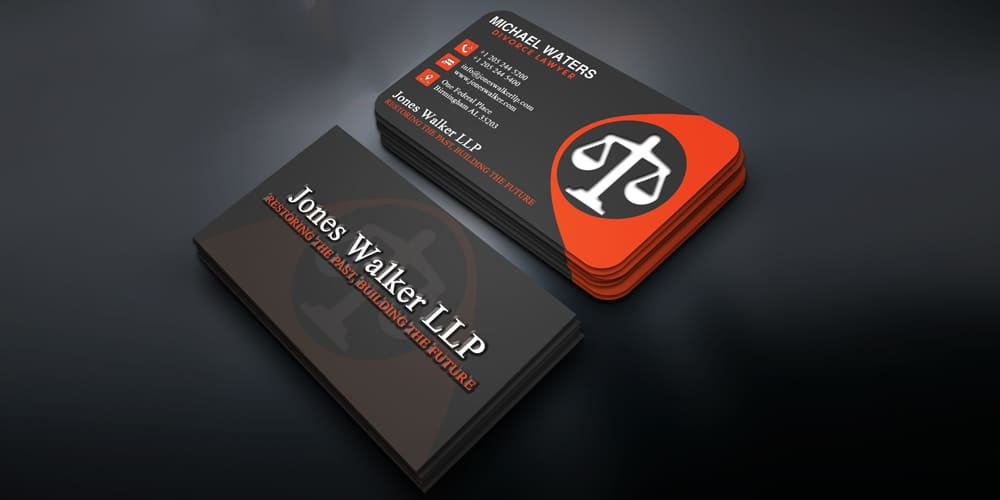 Free Business Card PSD for Lawyer