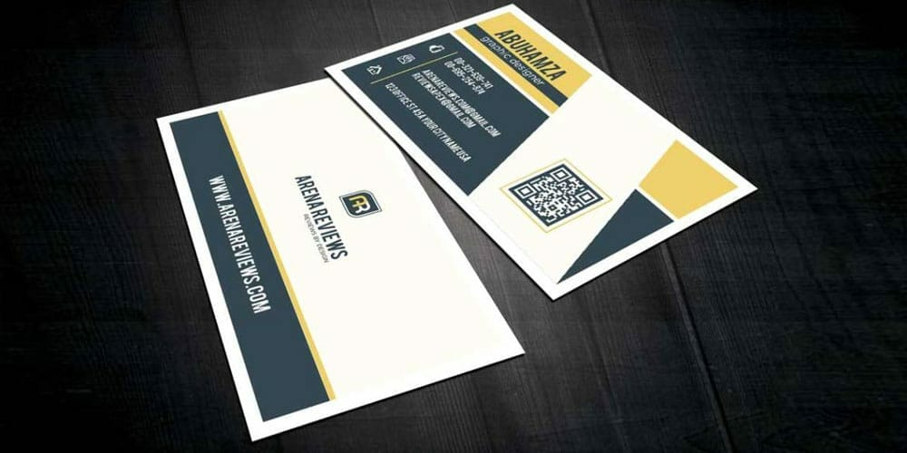 Free Clean White Corporate Business Card