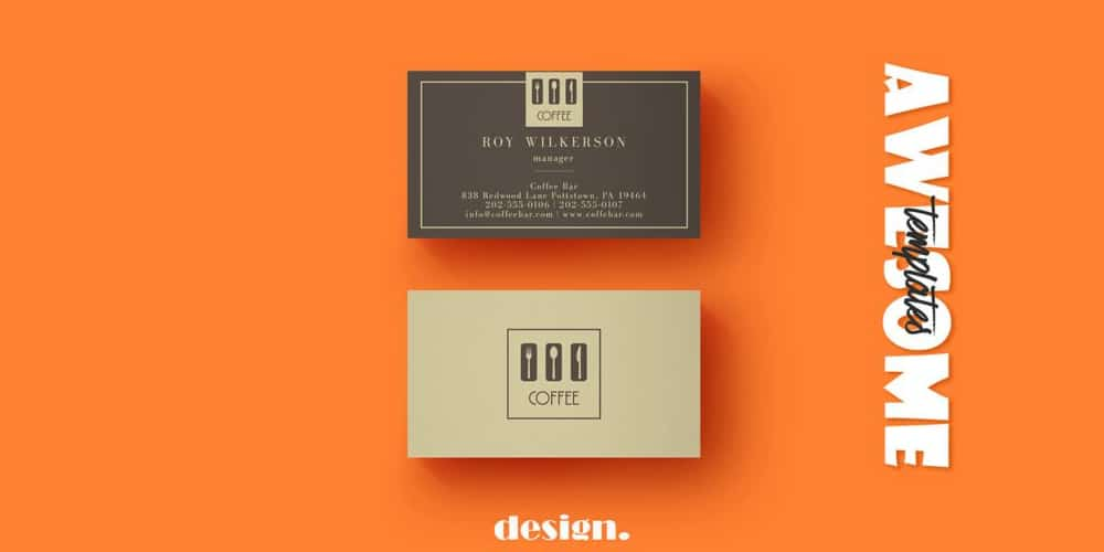 100 free business cards psd the best of free business cards free coffee business card template psd wajeb Images