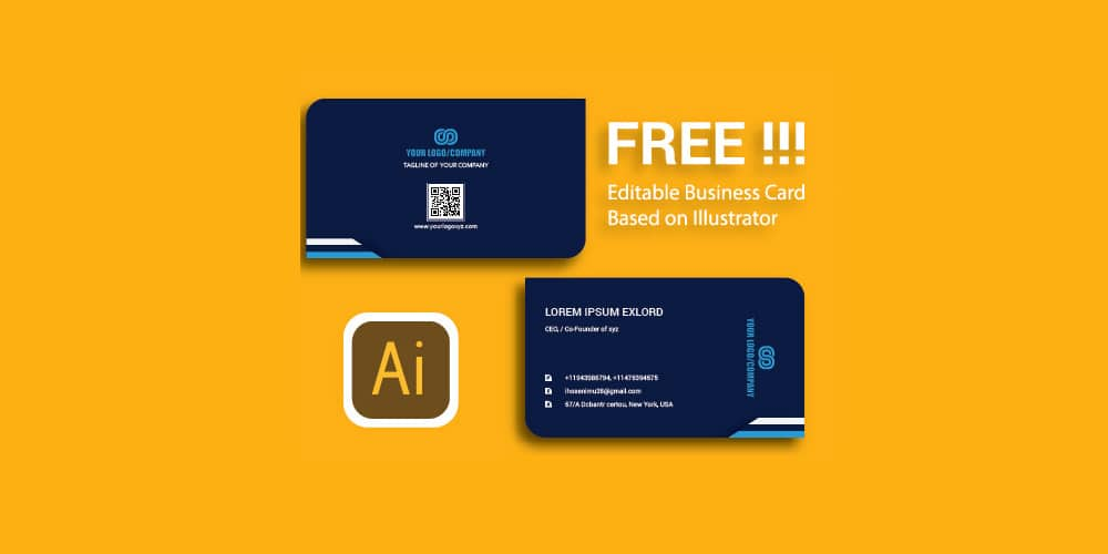 Free Editable Business Card