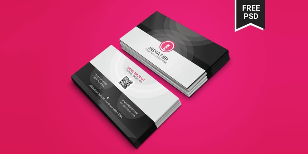 Free Elegant Business Card Templates PSD