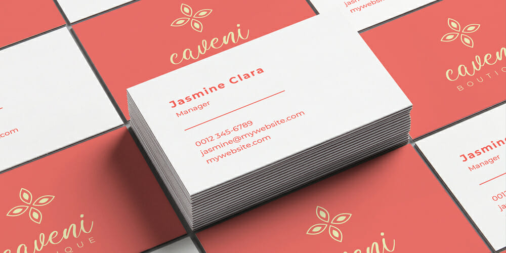 Free Feminine Business Card Vector Template