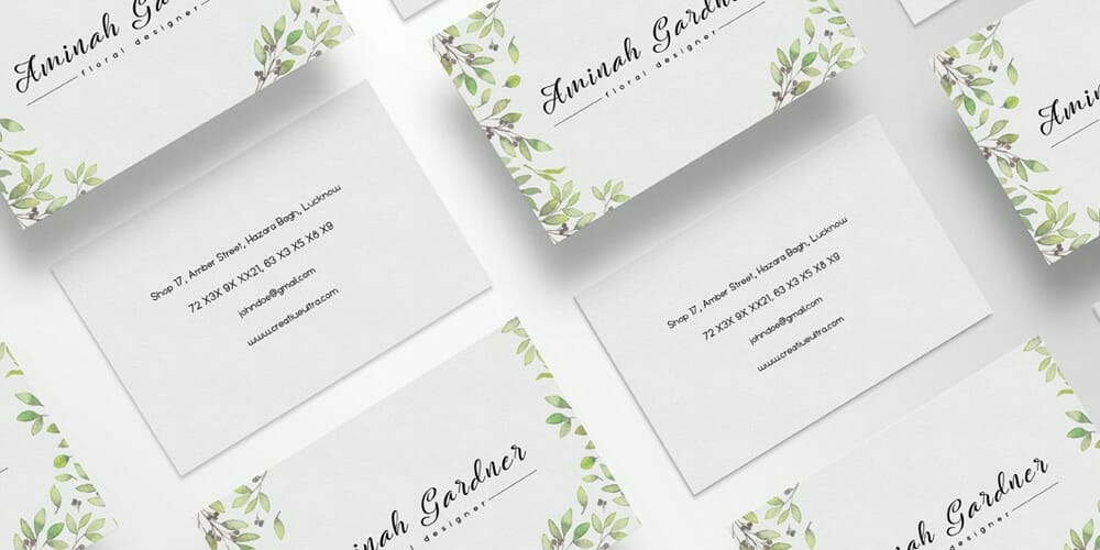 100 free business cards psd the best of free business cards free floral designer business card template psd colourmoves