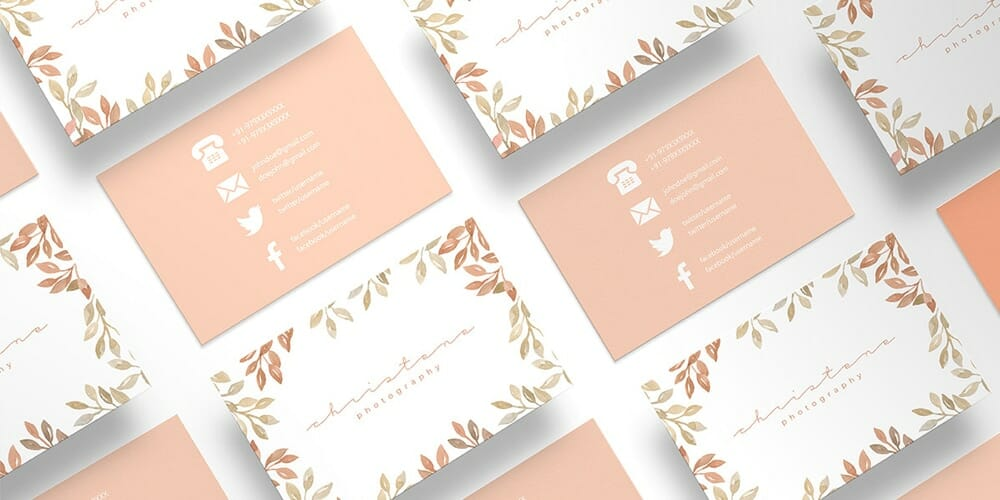 Free Floral Photography Business Card Template PSD