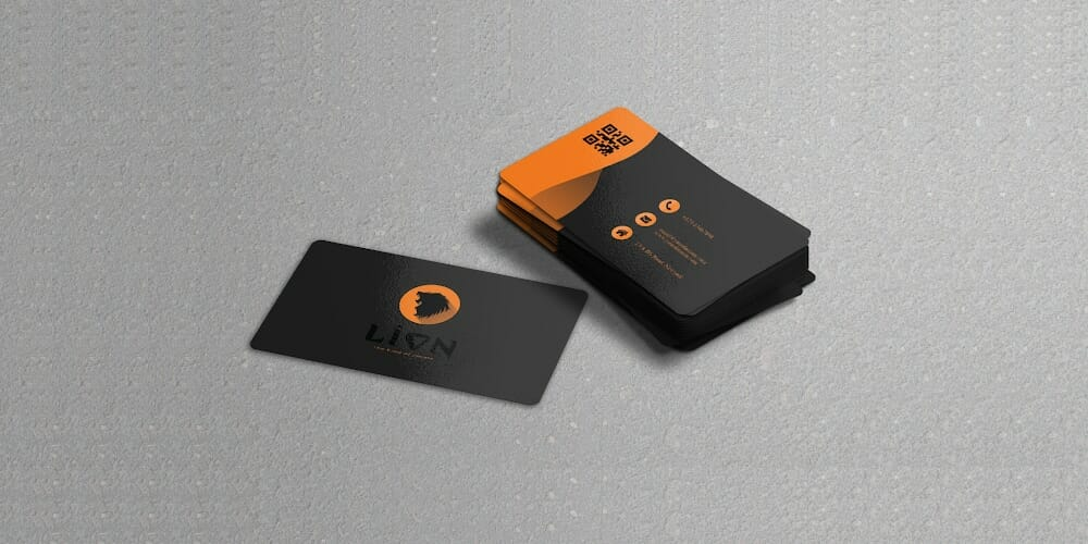 Free Glossy Business Card Mockup PSD
