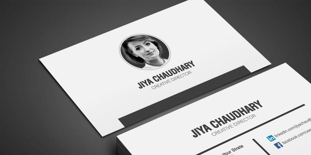 Free Luxury Business Agency Visiting Cards Template PSD