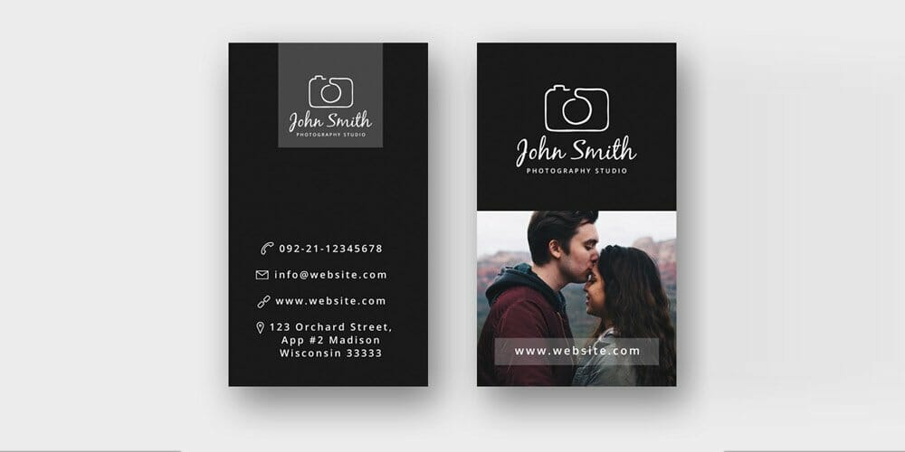 100 free business cards psd the best of free business cards free minimal photographer business card template psd flashek Image collections