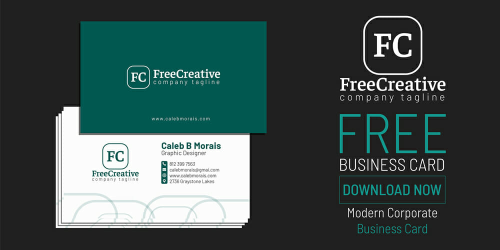 Free Modern Corporate Business Card