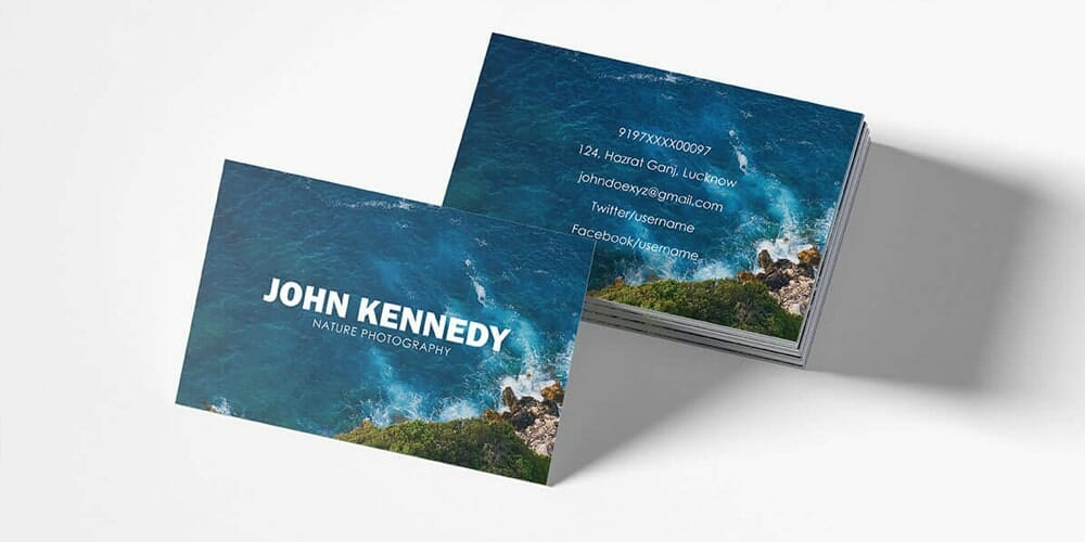 100 free business cards psd the best of free business cards free nature business card template psd wajeb Gallery