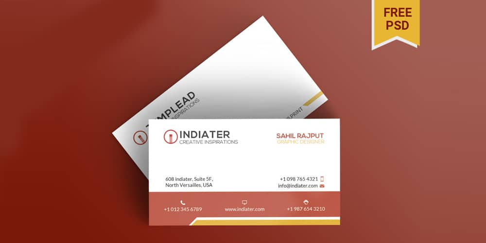 Free Premium Business Card Templates PSD
