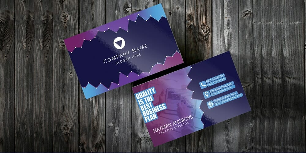 100 free business cards psd the best of free business cards free purple corporate business card template psd friedricerecipe Gallery