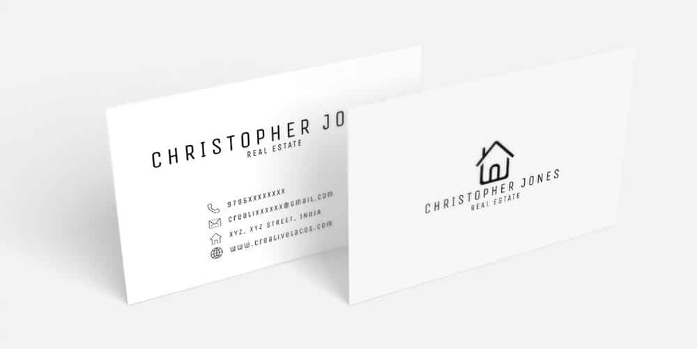 Free Real Estate Minimal Business Card