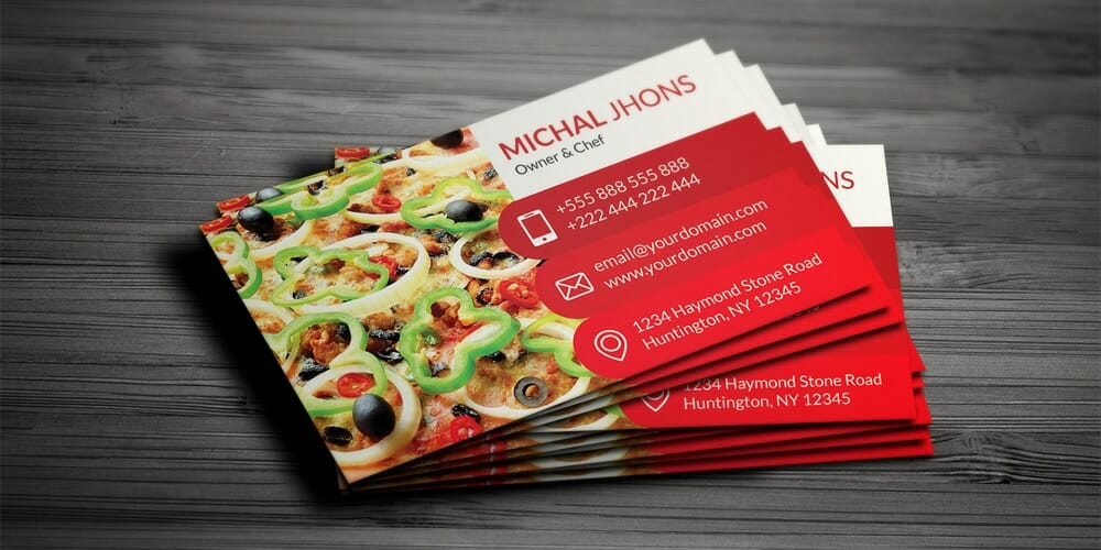 100 free business cards psd the best of free business cards free restaurant business card psd reheart Image collections
