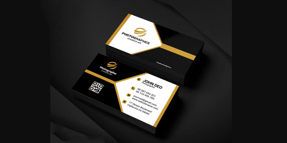 Free Sample Photography Business Card PSD