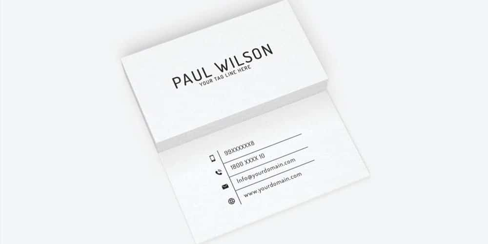 Free Simple Individual Business Card PSD