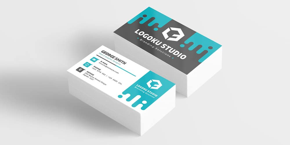 free slime business card template psd