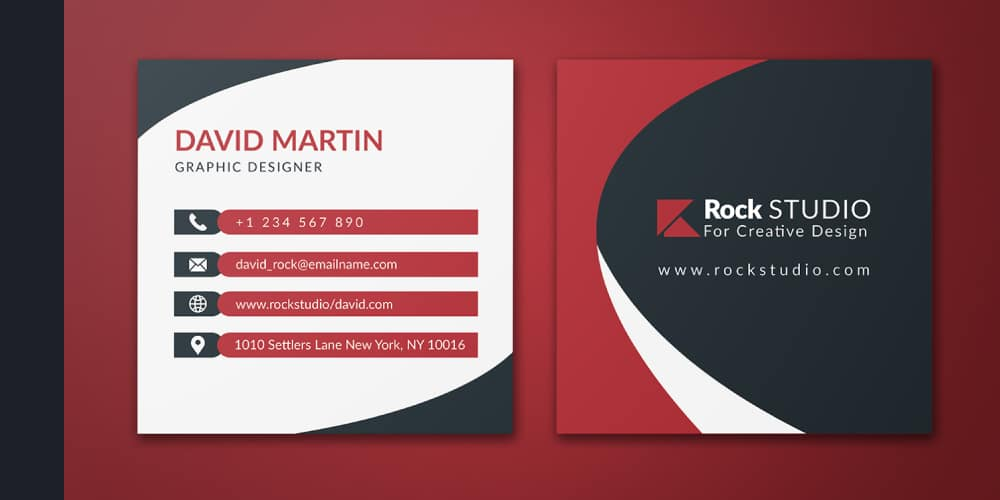 Free Square Business Card PSD