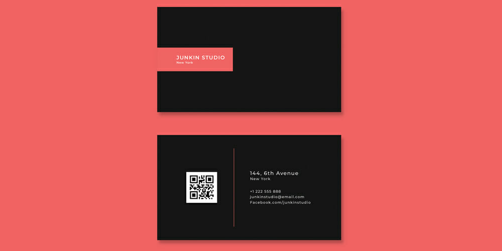 Free Visiting Card Template PSD