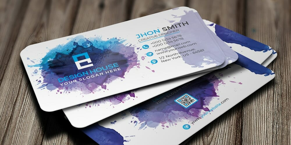 100 free business cards psd the best of free business cards free watercolor splash business card psd colourmoves