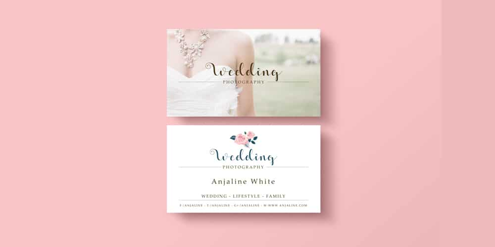 Free Wedding Photography Business Card Template PSD