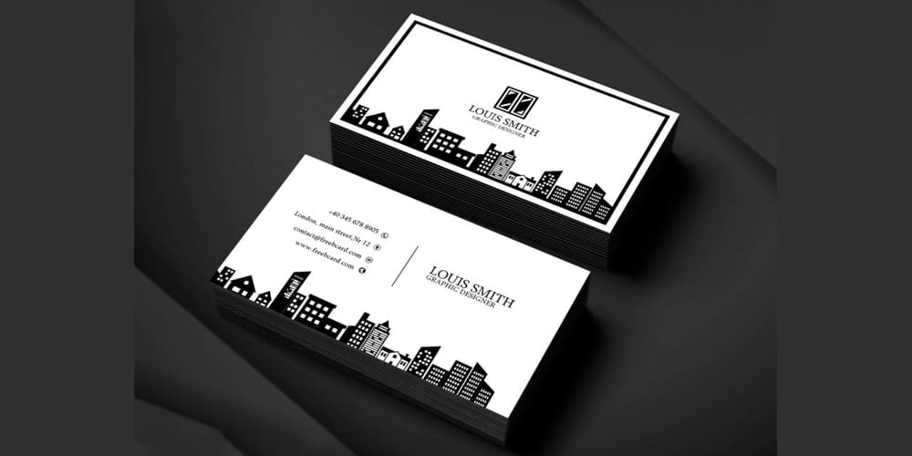 100 free business cards psd the best of free business cards graphic designer business card template wajeb Gallery