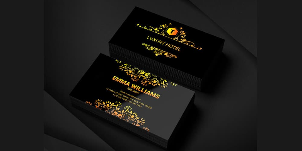 100 free business cards psd the best of free business cards luxury hotel business card template psd flashek Gallery