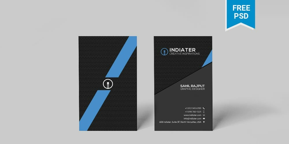 100 free business cards psd the best of free business cards minimalist vertical business card template psd reheart Choice Image