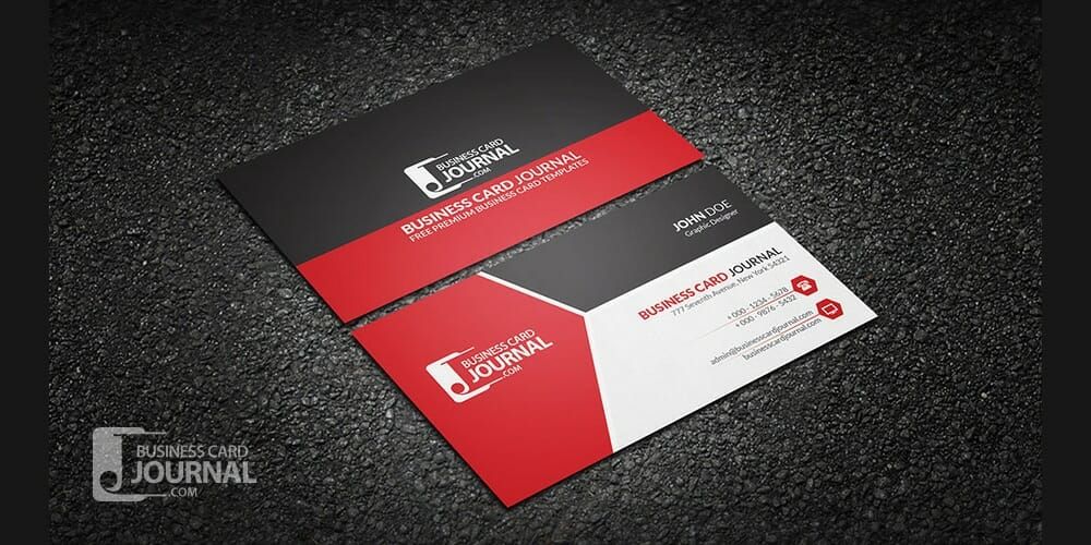 Modern Tricolor Business Card Template