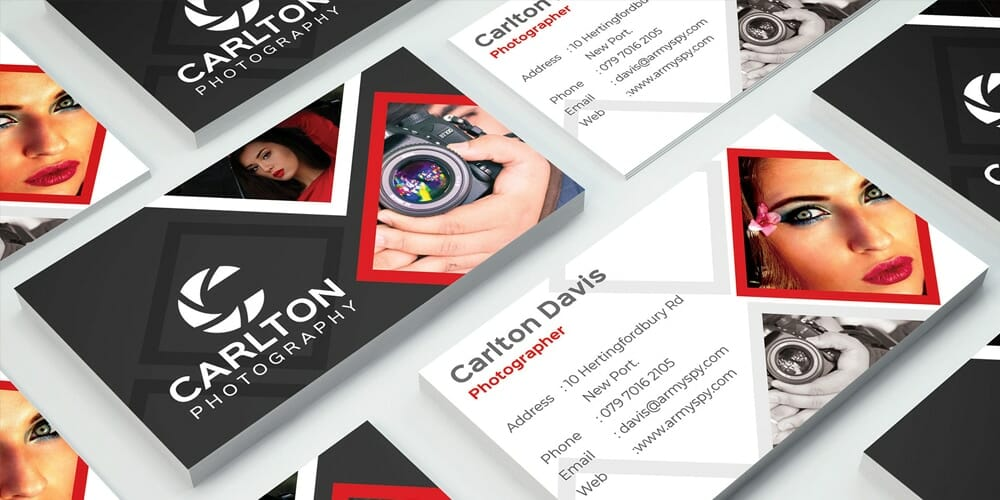 Photography Business Card Design PSD