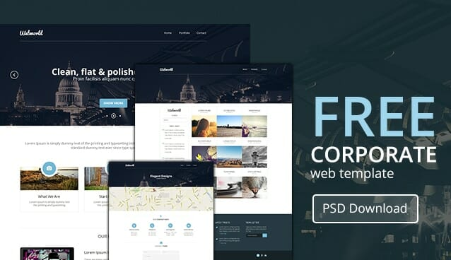 professional free corporate web design template psd css author