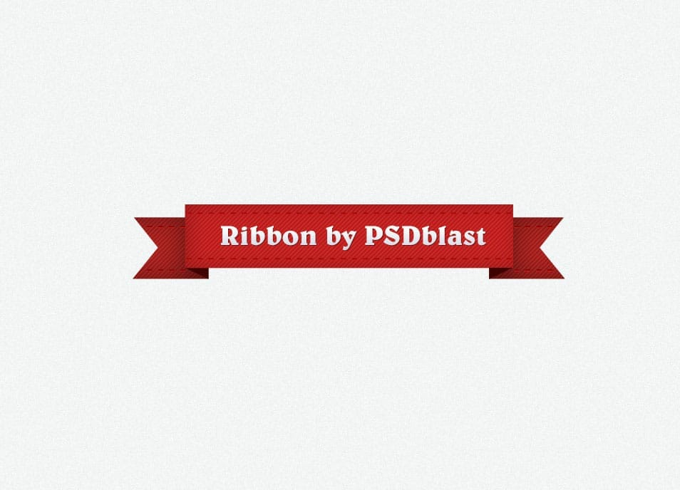 Red ribbon graphic