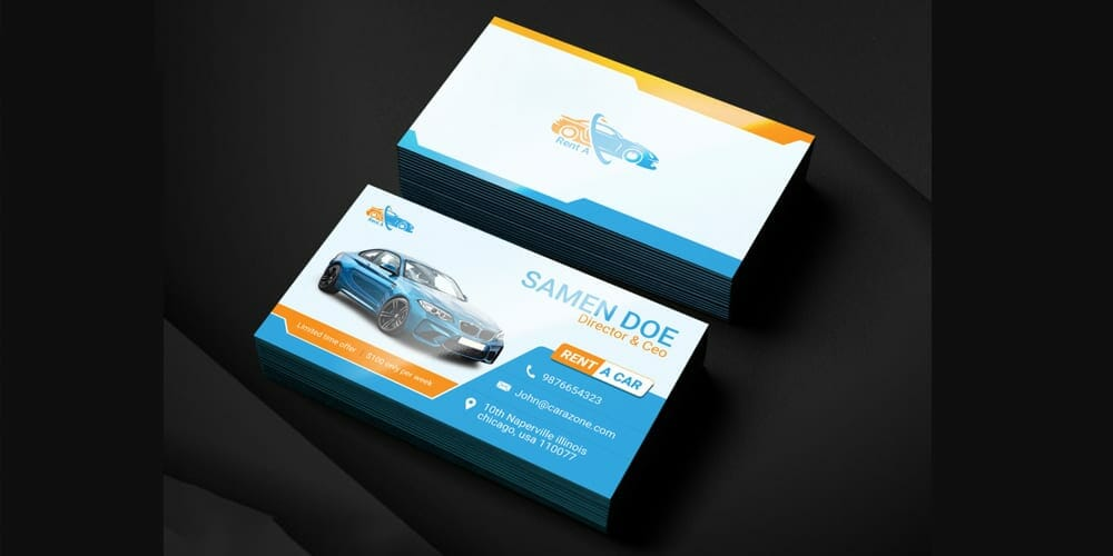 100 free business cards psd the best of free business cards rent a car business card template psd accmission Image collections