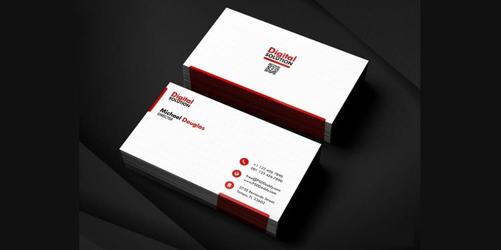 100 free business cards psd the best of free business cards simple business card template psd wajeb Choice Image