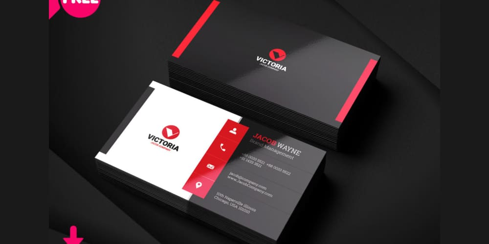 Stylish Corporate Business Card PSD