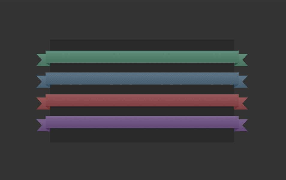 4 Colored Ribbons PSD