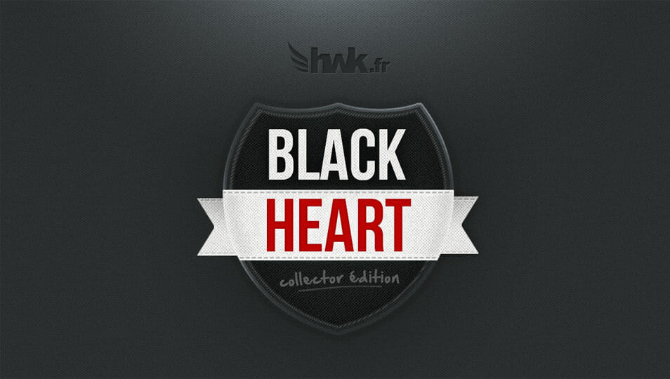 Black Heart Badge