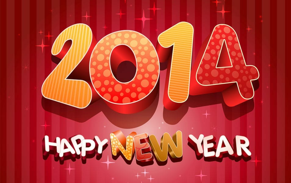Abstract Free 2014 Happy New Year Wallpaper