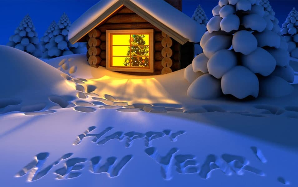 Beautiful House Happy New Year 2014