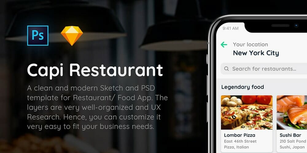 Capi-Restaurant-iOS-UI-Kit