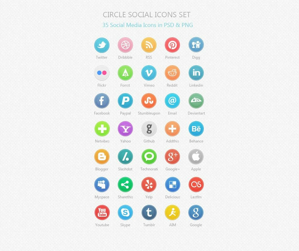 500 Best Free Social Media Icon Sets Free Icon Sets