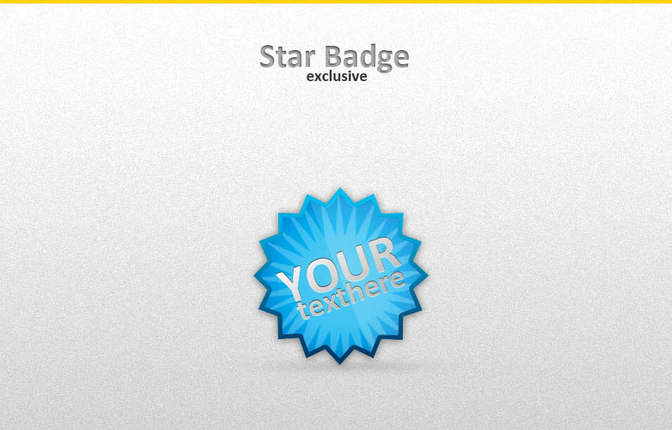 Exclusive star badge