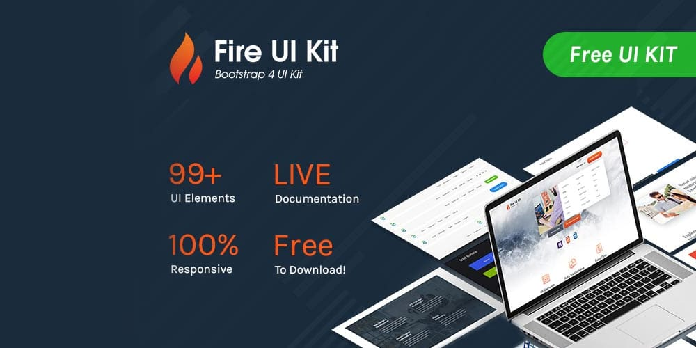 Fire Bootstrap 4 UI Kit