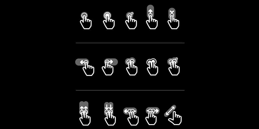 Flat Gesture Icons Pack