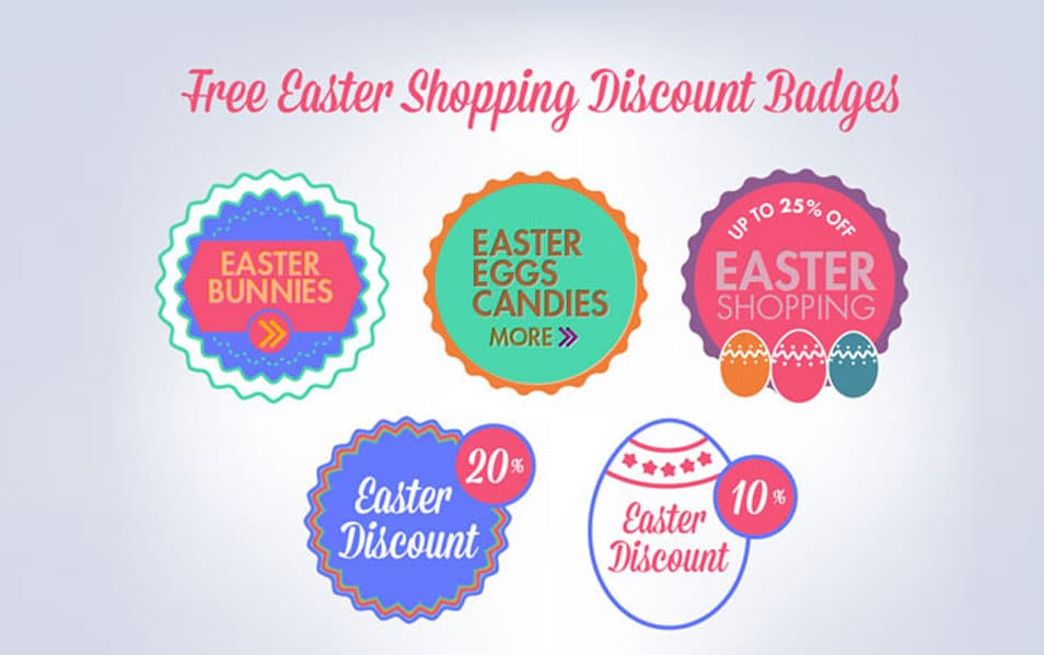 Free Easter Shopping Discount Badges