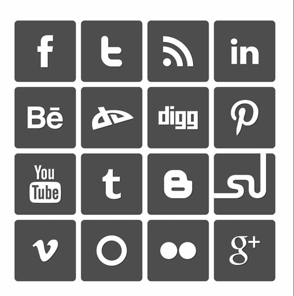 Free Simple Vector Social Media Icons Set 2012