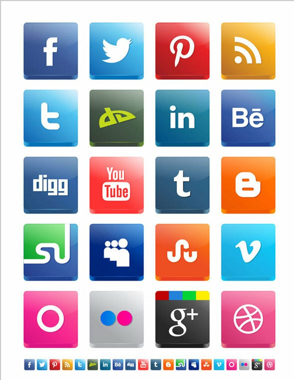 500 High Quality Free Social Media Icon Sets Flipflop Circuit Build And Demo Youtube Vector 3d Pack 2012