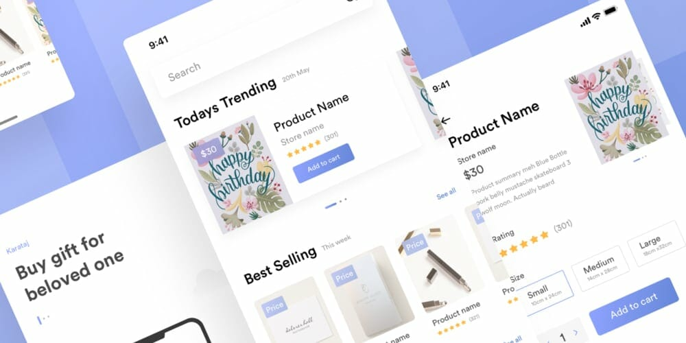 Kamartaj Gift Shop UI Kit